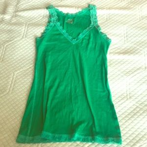 Geeen old navy tank with cute lace